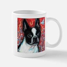 Portrait of smiling Boston Terrier Mug