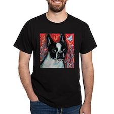 Portrait of smiling Boston Terrier T-Shirt