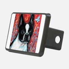Portrait of smiling Boston Terrier Hitch Cover