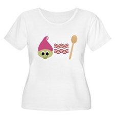 Troll Bacon Spoon Plus Size T-Shirt