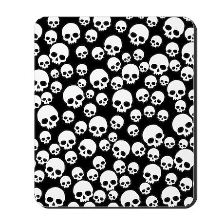 Random Skull Pattern Mousepad