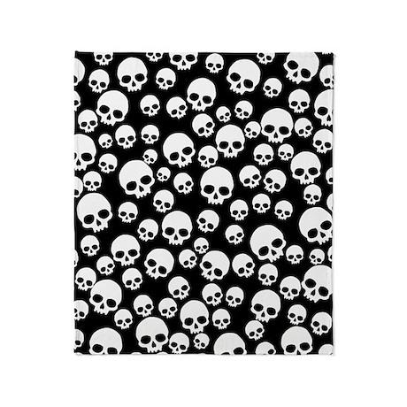 Random Skull Pattern Throw Blanket