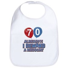 70 years birthday gifts Bib