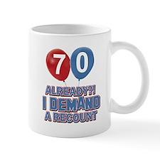 70 years birthday gifts Small Mug