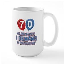 70 years birthday gifts Mug