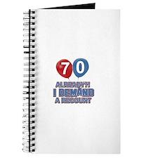 70 years birthday gifts Journal