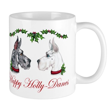 Great Dane HollyDanes MRL WHT Mug