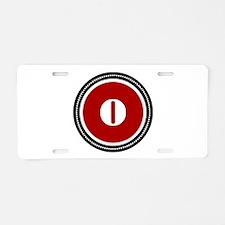 Red Aluminum License Plate