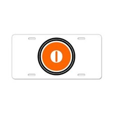 Orange Aluminum License Plate