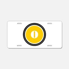 Yellow Aluminum License Plate