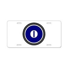 Blue Aluminum License Plate