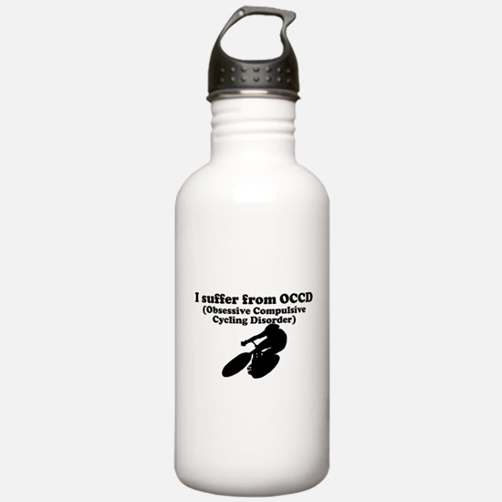 Obsessive Compulsive Cycling Disorder Water Bottle