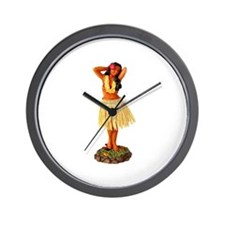 Retro Hula Girl Wall Clock