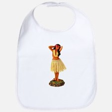 Retro Hula Girl Bib