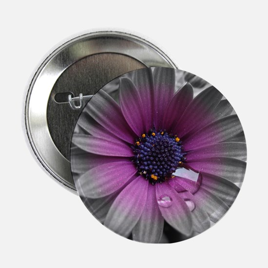 "Wonderful Flower with Waterdrops 2.25"" Button"