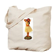 Retro Hula Girl Tote Bag