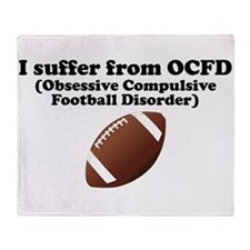 Obsessive Compulsive Football Disorder Throw Blank
