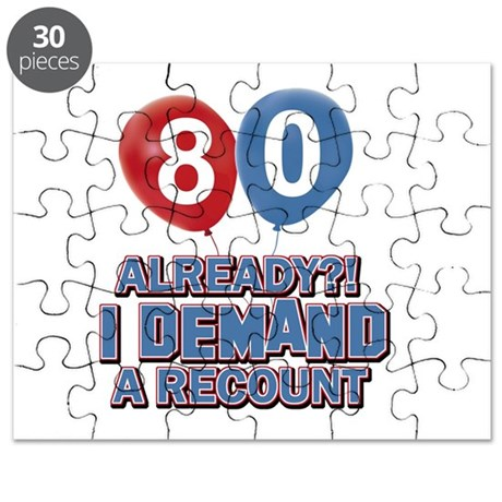 80 years birthday gifts Puzzle