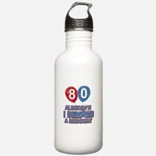 80 years birthday gifts Water Bottle