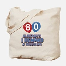 80 years birthday gifts Tote Bag
