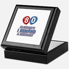 80 years birthday gifts Keepsake Box