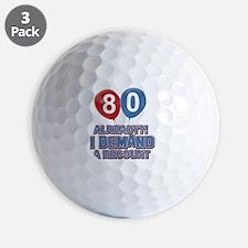 80 years birthday gifts Golf Ball