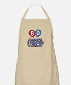 80 years birthday gifts Apron