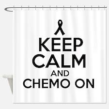 Cancer survival designs Shower Curtain
