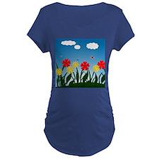 Naive nature scene Maternity T-Shirt