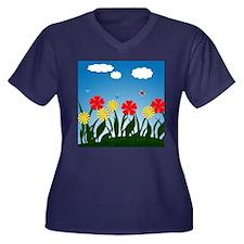 Naive nature scene Plus Size T-Shirt