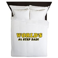 Unique gifts for Step Dad Queen Duvet