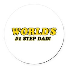 Unique gifts for Step Dad Round Car Magnet