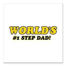 """Unique gifts for Step Dad Square Car Magnet 3"""" x 3"""