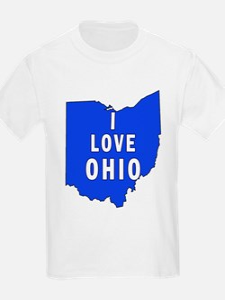 I LOVE OHIO Kids T-Shirt