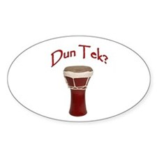 Dun Tek Red Oval Stickers