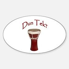 Dun Tek Red Oval Stickers
