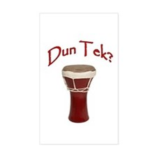 Dun Tek Red Rectangle Stickers