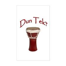 Dun Tek Red Rectangle Stickers