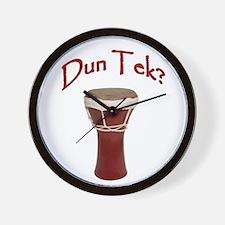 Dun Tek Red Wall Clock