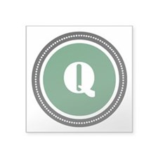 "Green Square Sticker 3"" x 3"""