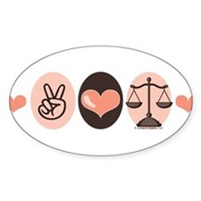 LawPeaceLoveBumpStick Decal