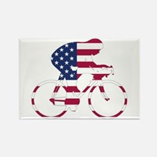 U.S.A. Cycling Rectangle Magnet (100 pack)