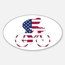 U.S.A. Cycling Sticker (Oval)