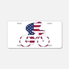 U.S.A. Cycling Aluminum License Plate