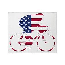 U.S.A. Cycling Throw Blanket