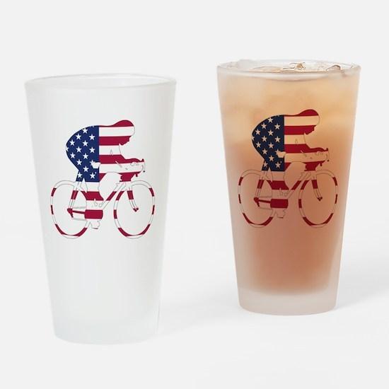 U.S.A. Cycling Drinking Glass