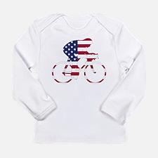U.S.A. Cycling Long Sleeve Infant T-Shirt