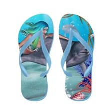 The Mermaid Flip Flops