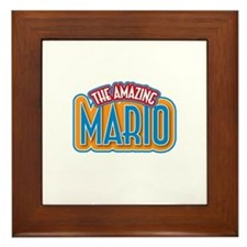 The Amazing Mario Framed Tile
