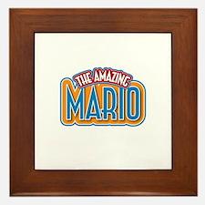 The Amazing Mario Framed Tile